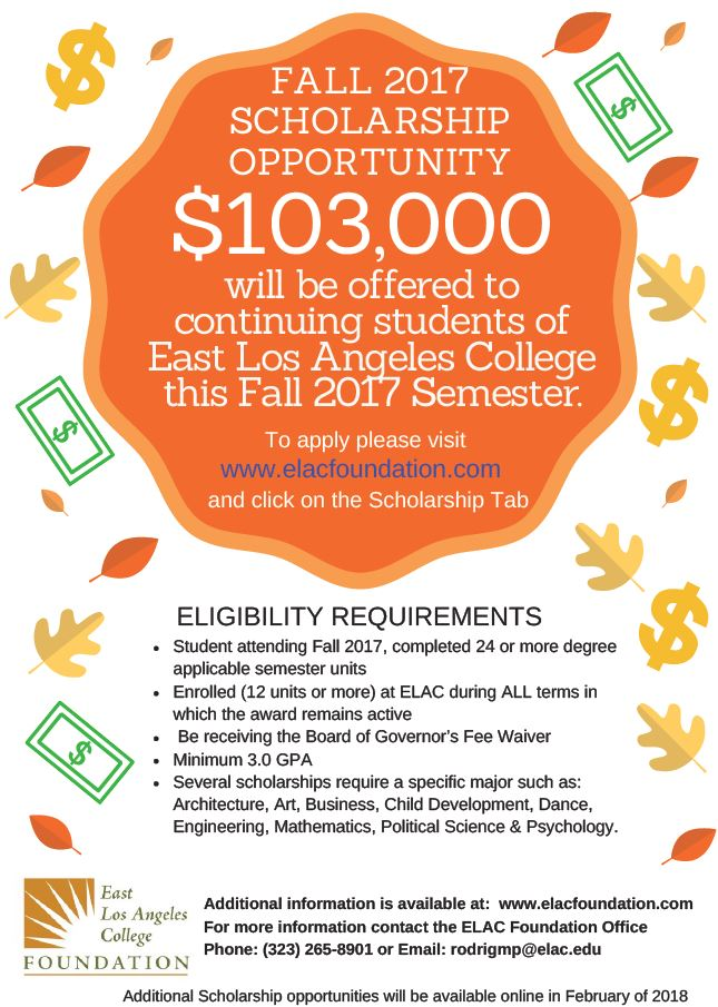 Fall 2017 Scholarships Flyer